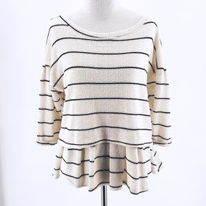Anthropologie Postmark Layered Striped Top